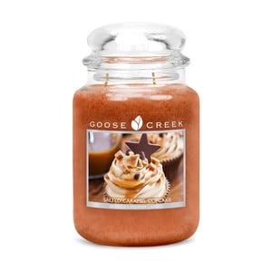 Świeczka zapachowa w szklanym pojemniku Goose Creek Słona babeczka karmelowa, 0,68 kg