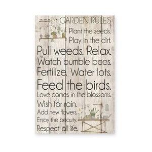 Drewniana tablica Garden Rules