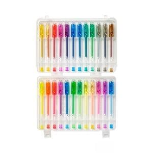 24 zapachowych fluorescencyjnych i brokatowych długopisów żelowych TINC Marvellous Minis