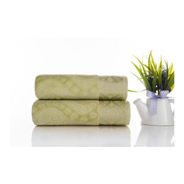 Zestaw 2 ręczników Sal Green, 50x90 cm