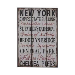 Drewniany obraz New York, 25x38 cm