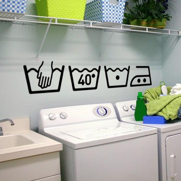Zestaw 4 naklejek Ambiance Washing Machine