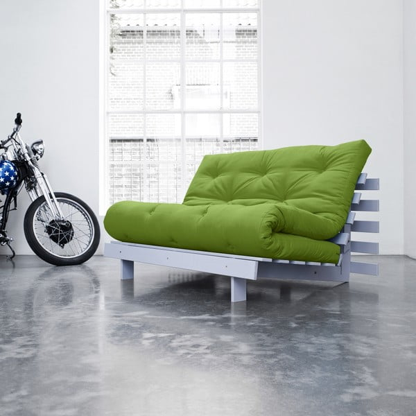 Sofa rozkładana Karup Roots Cool Gray/Lime
