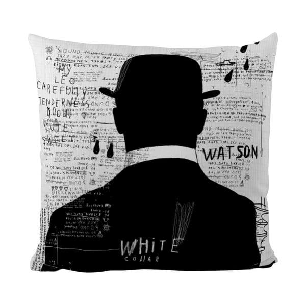 Poduszka Black Shake White Collar, 40x40 cm