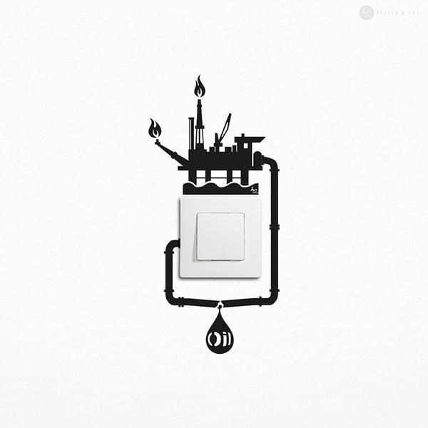 Naklejka Oil Spill