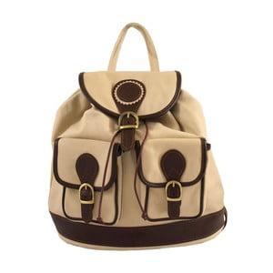 Beżowy plecak skórzany Chicca Borse Becky