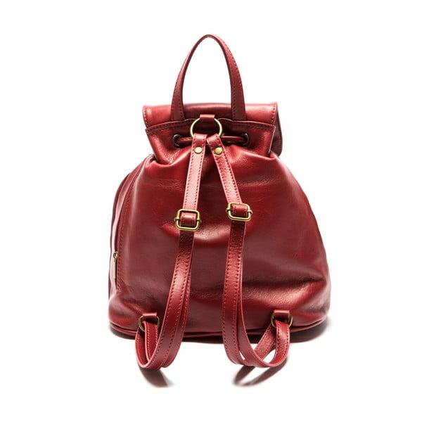 Czerwony skórzany plecak Sofia Cardoni Valerio