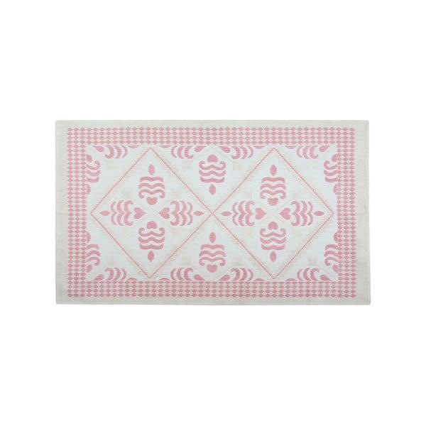 Jasnoróżowy dywan bawełniany Floorist Flair, 120x180cm