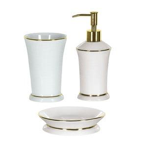 Zestaw akcesoriów łazienkowych Ascot White/Gold