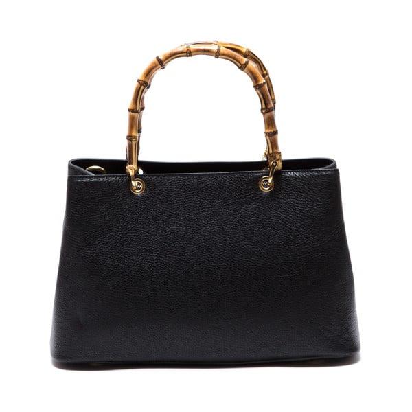 Skórzana torebka Cerla, czarna