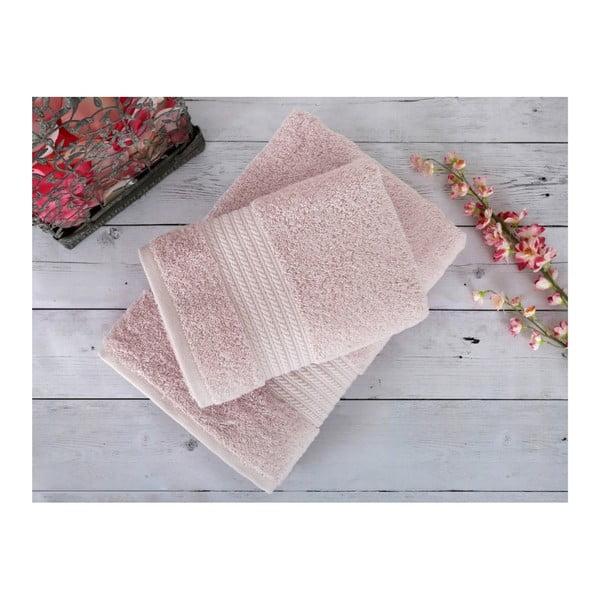 Pudrowo-różowy ręcznik Irya Home Egyptian Cotton, 70x130 cm