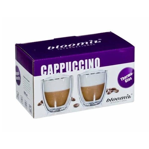 Zestaw 6   szklanych kubków na cappuccino bloomix