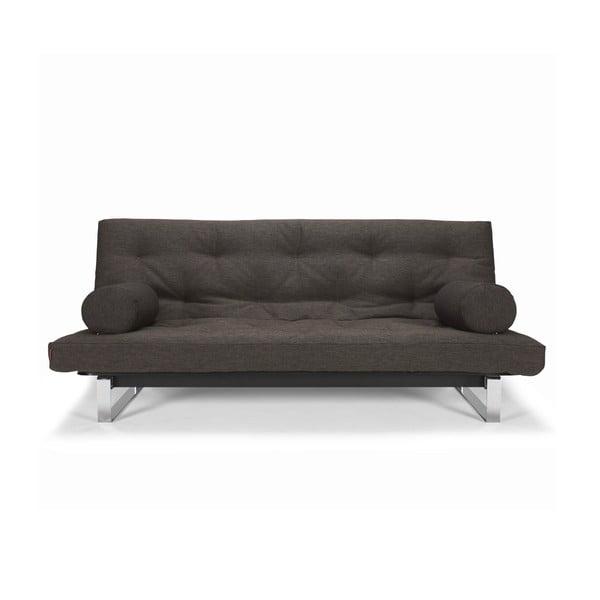 Ciemnobrązowa sofa rozkładana Innovation Minimum