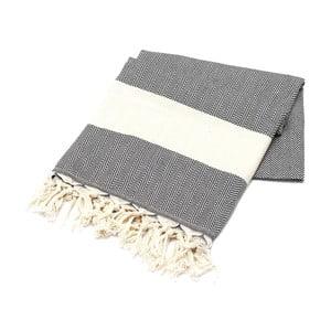 Ręcznik hammam American Stripes Black, 100x180 cm