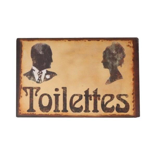 Tabliczka na drzwi do toalety Toilettes