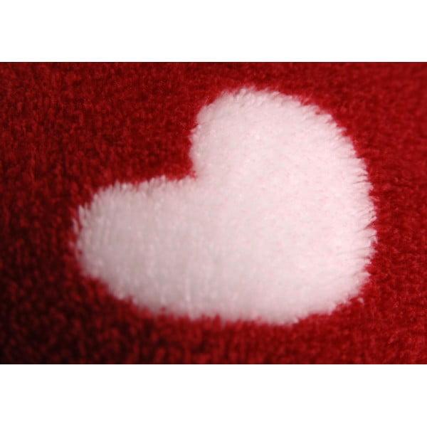 Koc Burgundy Heart, 170x130 cm