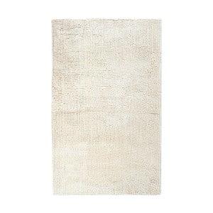 Beżowy ręcznie tkany dywanik łazienkowy Lucid, 60x100 cm