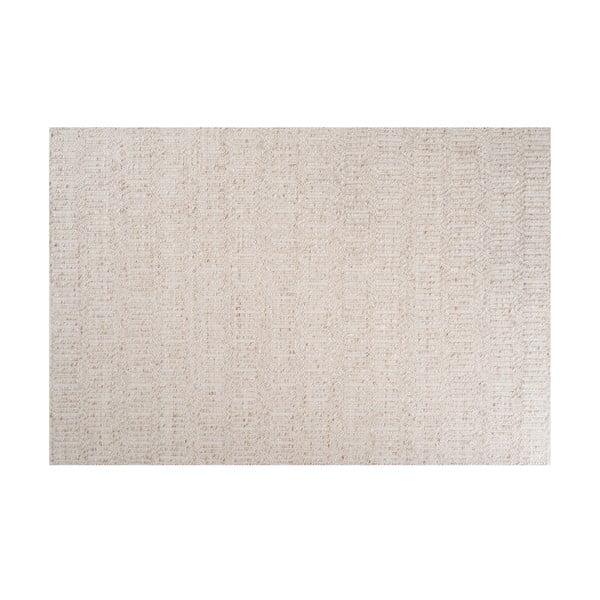 Beżowy dywan z dodatkiem wełny Justin, 140x200 cm