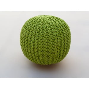Puf  Oval Green