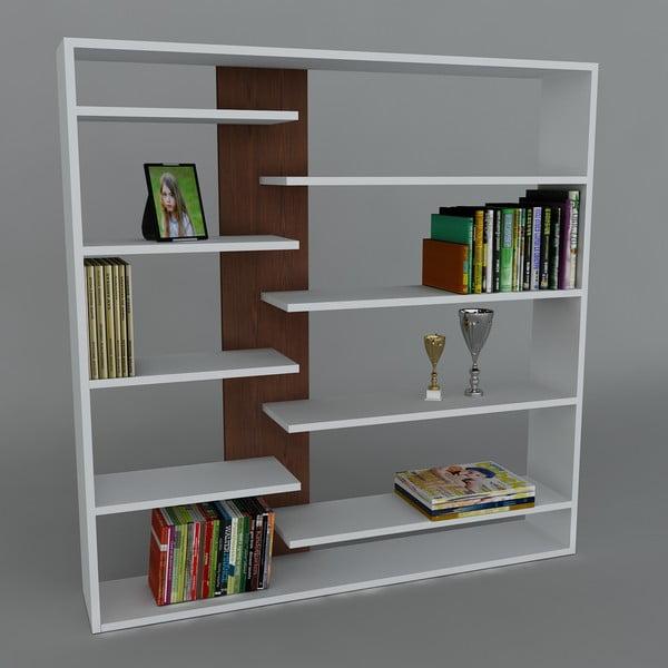 Biblioteczka Handy Book White/Wenge, 22x125x126 cm