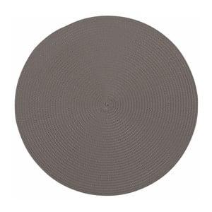 Szara okrągła mata stołowa Tiseco Home Studio Round, ø 38 cm