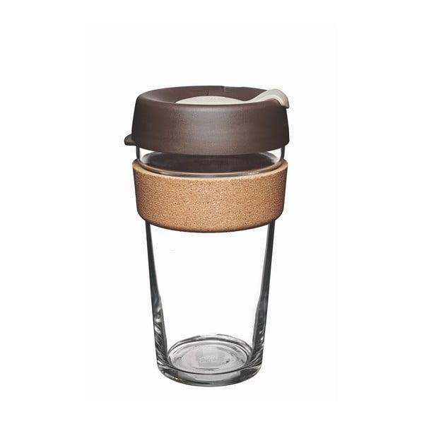 Kubek podróżny z wieczkiem KeepCup Brew Cork Edition Almond, 454 ml