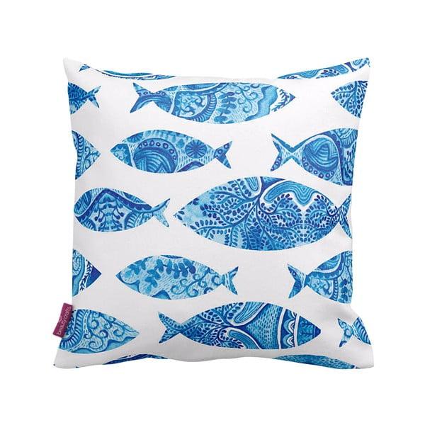Poduszka Blue Fish, 43x43 cm