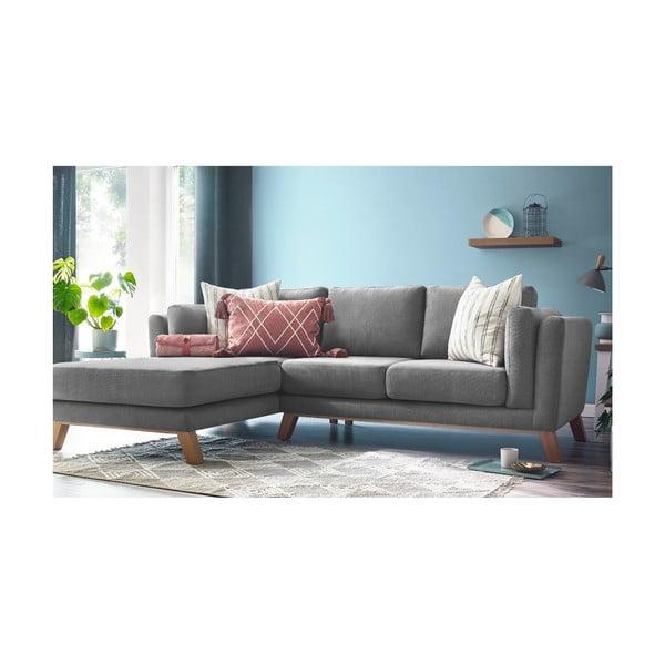 Szara sofa z szezlongiem po lewej stronie Bobochic Paris Seattle