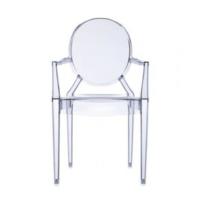 Krzesło Kartell Louis Ghost, jasnoniebieskiej