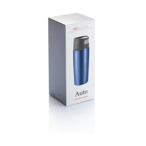 Niebieski kubek termiczny do auta XD Design Leak,400ml