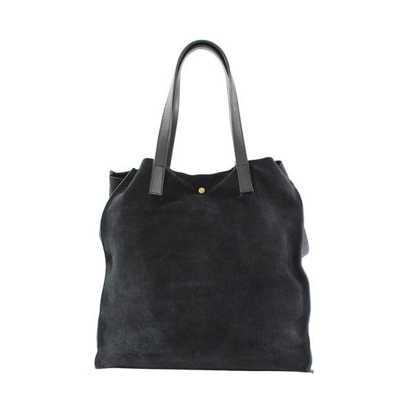 Skórzana torebka Perfume, czarna