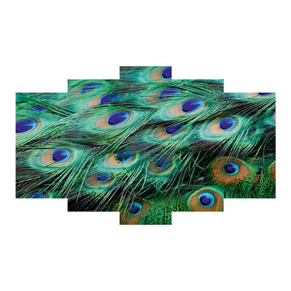Pięcioczęściowy obraz Peacock