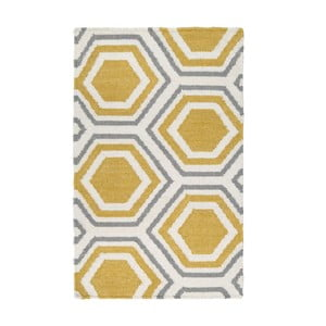 Dywan ręcznie tkany Oslo, 150x240 cm, żółty