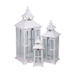 Komplet 3 białych lampionów Farole
