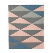 Wełniany dywan triangle 120x150 cm, granatowy