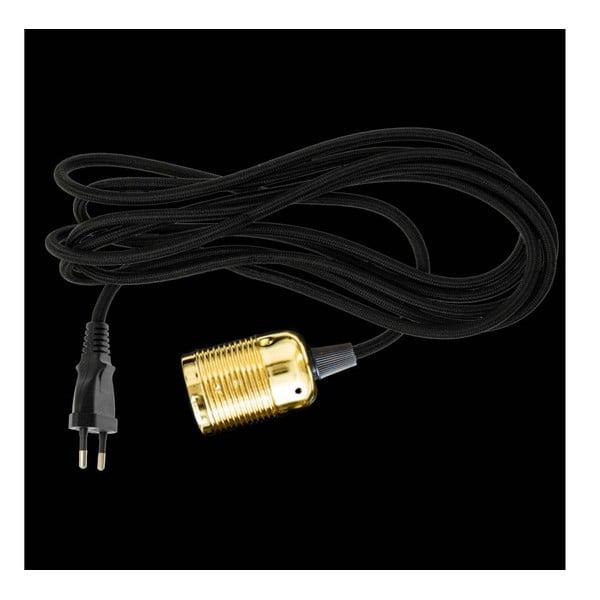 Kabel materiałowy do lampy Dan Lamp Brass, 3 metry