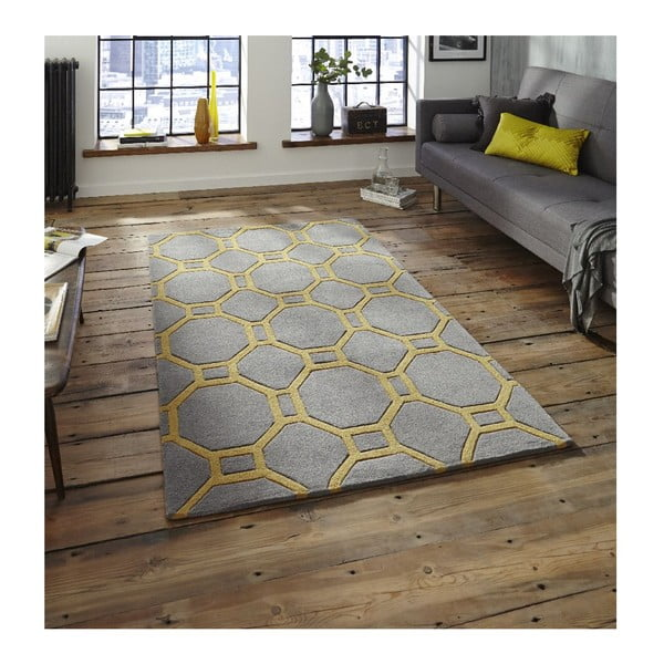 Dywan Hongkong Grey Yellow, 120x170 cm