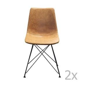 Brązowe krzesło z czarną metalową konstrukcją Red Cartel Clyde