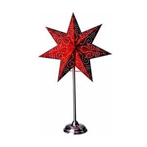 Świecąca gwiazda ze stojakiem Antique Red, 55 cm