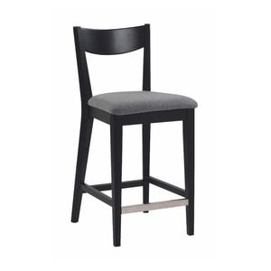 Černá barová židle s šedým podsedákem Rowico Dylan