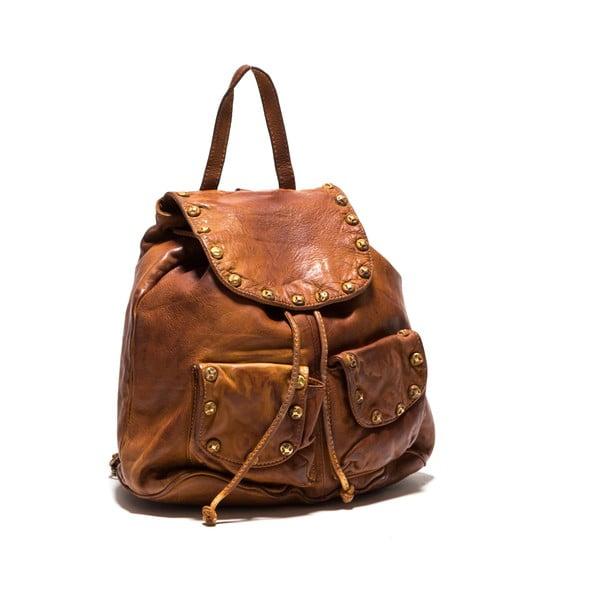 Skórzany plecak Anna Luchini 8 Cognac