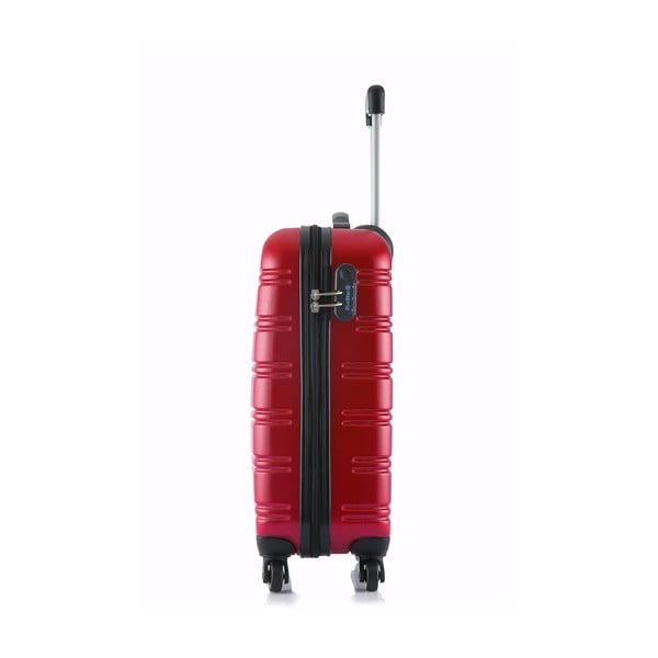 Czerwona walizka podręczna Blue Star Bilbao