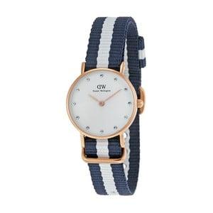 Zegarek damski z detalami w różowozłotej barwie Daniel Wellington Glasgow Gold, ⌀ 26 mm