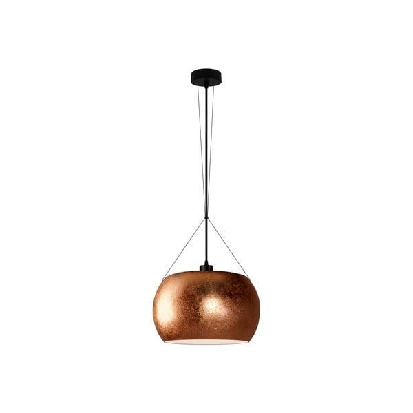 Lampa wisząca w kolorze miedzi z czarnym kablem Sotto Luce Momo Elementary Teo