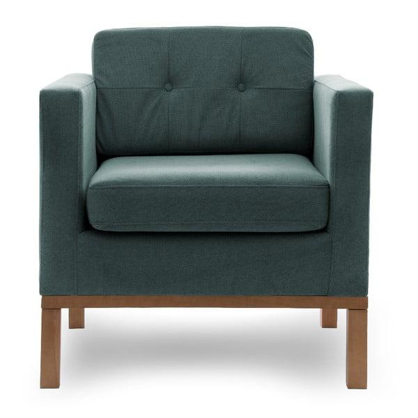 Fotel VIVONITA Jonan Light Blue, naturalne nogi