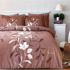 Komplet pościeli Pierre Cardin Flowers z prześcieradłem, 200x220 cm