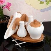 Serwetnik z solniczką, pieprzniczką i pojemnikiem Bamboo
