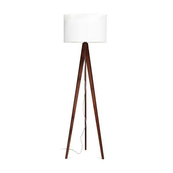 Lampa stojąca Artist White/Brown, 125x42 cm