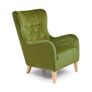 Zielony fotel Max Winzer Medina