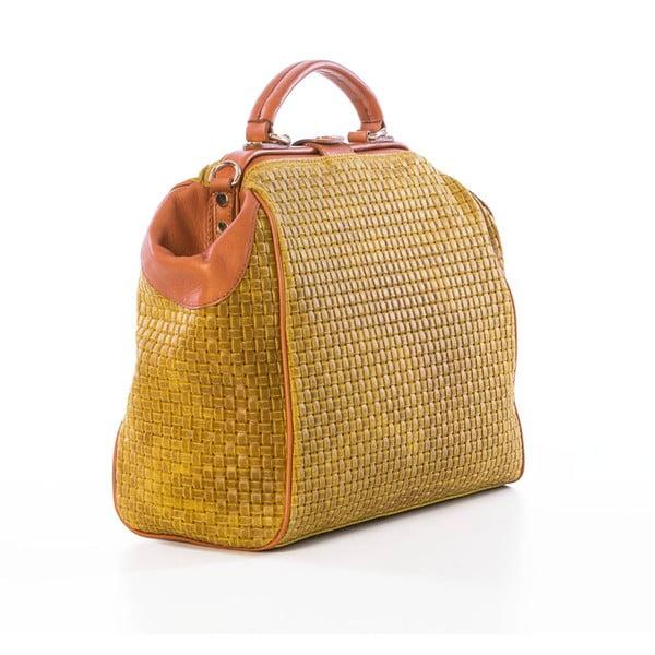 Skórzana torebka Braid Yellow